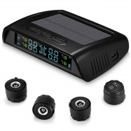 ZEEPIN C200 Tire Pressure Monitoring System Solar TPMS Universal Real-time Tester LCD Screen with 4 External Sensors