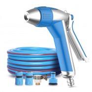 Car Washing Spray Gun 15m PVC Soft Hose Stepless Speed High-pressure Nozzle 12m Range