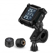 M3 Tire Pressure Monitoring System Motorcycle TPMS Real-time Tester Clear LCD Screen 2 External Sensors