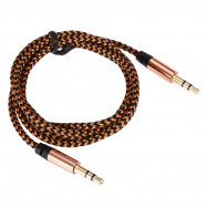 C05 1.03m 3.5mm Male to 3.5mm Male Metal Shell Braid Audio Cable