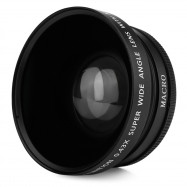 2-in-1 72MM 0.43X Wide Angle Macro Camera Lens with Two Cap