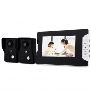 SY813MKB21 7 inch Night Vision Video Door Phone Doorbell Intercom Kit with 2 camera 1 monitor