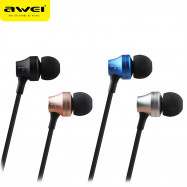 AWEI ES910i 3.5MM Plug Stereo Music Deep Bass In-ear Earphones Headphones