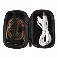 Portable EVA Earphones Accessory Storage Zipper Box