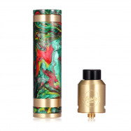 CoilART MAGE MECH TRICKER Kit Supporting Single 18650 Battery with Bottom Airflow RDA for E Cigarette