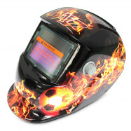 Solar Energy Automatic Changeable Light Electric Welding Protective Helmet with Football Pattern