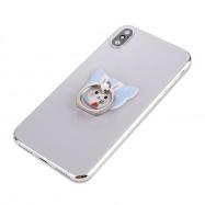 Cute Cartoon Rabbit 360 Degree Finger Ring Mobile Phone Smartphone Stand Holder Smart Phone