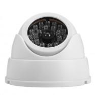 Realistic Dummy Surveillance Security Fisheye Camera with Flashing LED Light