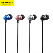 AWEI ES - Q2 3.5MM Plug Stereo Music Deep Bass In-ear Earphones Headphones