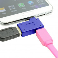 Cwxuan 90 Degrees Right Angled Micro USB to USB OTG Adapter and Power Port