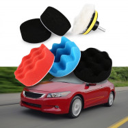 7PCS Waxed and Polished Sponge Suit for Car