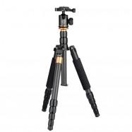 QZSD Q990C Portable Carbon Fiber Camera Tripod with 360 Degree Head