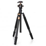 QZSD Q968C 1.75m Carbon Fiber 4 Section Camera Tripod Unipod