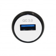 Minismile Original Mini Universal QC3.0 Fast Charge Car Charger Adapter with Led Indicator Light