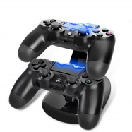 Dual USB Charging Charger Docking Station Stand for PS4 Pro / PS4 Slim