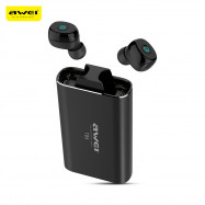 Awei T85 TWS Twins True Wireless Bluetooth V5.0 Earbuds with Charging Base