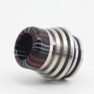 Original YUHETEC 810 Tower Stainless Steel + Black Resin drip tip 2pcs