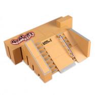 5pcs Skate Park Kit Ramp Parts for Tech Deck Finger Board Ultimate Sport Training Props