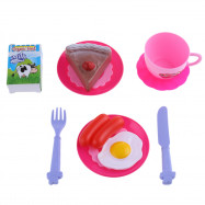 54pcs Kid Kitchen Pretend Cookware Vegetable Fruit Play Toy Set