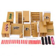 11pcs Skate Park Kit Ramp Parts for Tech Deck Finger Board Ultimate Sport Training Props