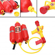 Kids Cute Outdoor Super Soaker Blaster Fire Backpack Pressure Squirt Pool Toy
