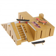 8pcs Skate Park Kit Ramp Parts for Tech Deck Finger Board Ultimate Sport Training Props