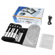 49 Keys Portable Electric Silicone Roll-up Keyboard Piano