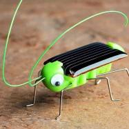 Fun Solar Power PVC Grasshopper Toy Gift