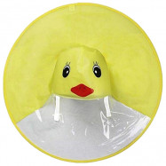 Creative Little Yellow Duck Raincoat Toy Great Gift for Children