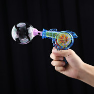Kids Colorful Light Gun Bubble Machine Outdoor Funny Playing Toy