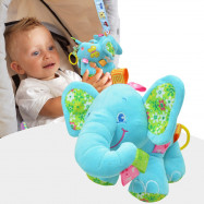 SOZZY Elephant Shape Music Bell Pull Rattles Hanging Toy