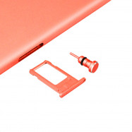 Metal 2 in 1 Sim Card Needle and 3.5MM Earphone Jack Dust Plug