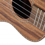 TOM TUC - 700 23 inch Acoustic Concert Ukulele Acacia Wood with Carrying Bag