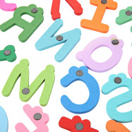 26Pcs Colorful Wooden Cartoon Letter Fridge Magnet Educational Kids Toys