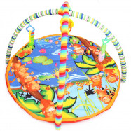 Baby Soft Play Mat Cartoon Animal Gym Blanket with Frame Rattle Crawling Developmental Toy