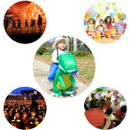 Dinosaur Costume Theme Party Halloween Walking Inflatable Outfit for Children