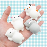 Kawaii Cute Mini Cat Slow Rising Soft Squishy Stress Reliever Decompression Toy for Kids Fidget Toy Gift 4PCS