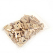 100pcs Wooden Scrabble Tiles Lowercase Letters Board Alphabet Toy