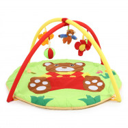 Baby Soft Play Mat Bear Gym Blanket with Frame Rattle Crawling Toy