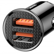 Baseus Dual USB QC 3.0 Intelligent Quick Car Charger Light Indicator