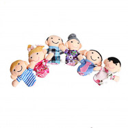 Mini Plush Baby Toy Finger Family Puppets Set Boys Girls 6pcs