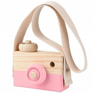 Wooden Toy Camera Kids Creative Neck Hanging Rope Photography Prop Gift