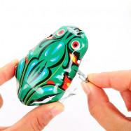 Children Classic Clockwork Tin Frog
