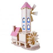 3D Wooden Puzzles Children House Model Assembling Building Kits