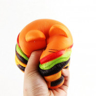 Jumbo Squishy Simulation Hamburger Cat Decompression Toys