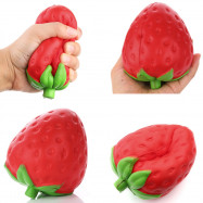 High Quality Squeeze Stretch Squishy Strawberry Fruit Scented Slow Rising Gift Toy for Kids
