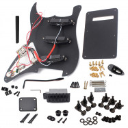Electric Guitar Kit ST Style Full Accessories Kit Black