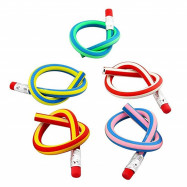5PCS Colorful Magic Bendy Flexible Soft Pencil with Eraser Gift Kids Writing
