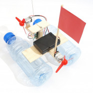 DIY Wireless Remote Control Wind Ship Children Science Education Toy