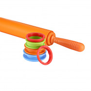 Non-stick Silicone Rolling Pin Dough Roller with adjustable Thickness Rings